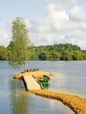 De boot op het meer Stock Afbeelding