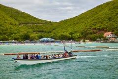 De boot overzees van THAILAND hemelstrand Royalty-vrije Stock Afbeeldingen