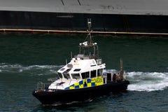 De Boot Parijs van de politie stock afbeelding