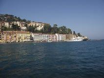 De boot in Porto Santo Stefano stock foto's