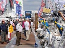 De boot toont menigten Royalty-vrije Stock Afbeelding
