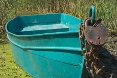 De boot van de bescherming van een hangslot Stock Fotografie