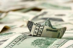 De boot van de dollar Royalty-vrije Stock Afbeeldingen