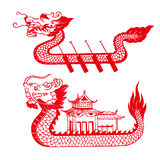 De Boot van de draak royalty-vrije stock afbeelding