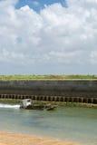 De boot van de oester bij eiland Oleron Stock Foto