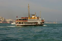 De boot van de passagier in Istanboel Royalty-vrije Stock Afbeelding