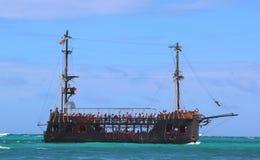 De boot van de piraatpartij in Punta Cana, Dominicaanse Republiek Royalty-vrije Stock Afbeelding