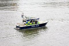 De boot van de politie Royalty-vrije Stock Afbeelding