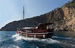 De boot van de reis Stock Afbeeldingen