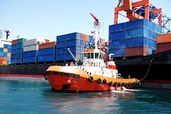 De boot van de sleepboot Stock Afbeeldingen