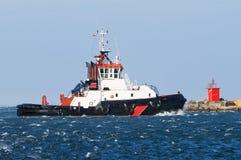 De boot van de sleepboot Stock Foto's