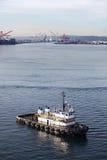De boot van de sleepboot in Seattle royalty-vrije stock afbeelding