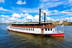 De boot van de stoom Stock Afbeeldingen