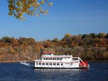 De boot van de stoom op de Mississippi stock foto's