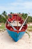 De boot van de traditionele visser, Vietnam Royalty-vrije Stock Foto