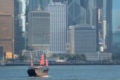 De boot van de troep in Hongkong Royalty-vrije Stock Fotografie