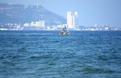 De boot van de visser Stock Foto