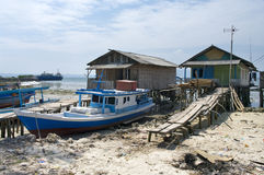 De boot van de visser, Sumatra, Indonesië Stock Foto