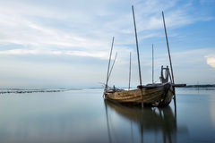 De boot van de visser van Thailand royalty-vrije stock afbeeldingen