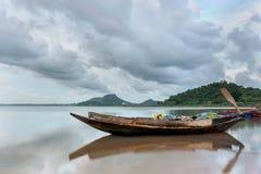 De boot van de visser van Thailand stock foto
