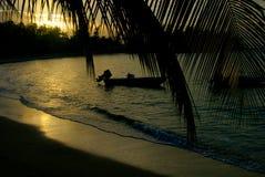 De Boot van de Zonsondergang van de Baai van Montego Royalty-vrije Stock Fotografie