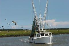 De boot van garnalen Royalty-vrije Stock Afbeeldingen