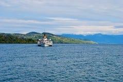 De Boot van Genève van het meer Stock Foto's
