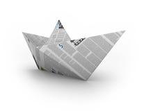De boot van het document Royalty-vrije Stock Afbeeldingen