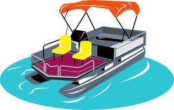 De boot van het ponton vector illustratie