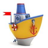 De boot van het stuk speelgoed Stock Afbeeldingen