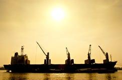 De Boot van het Vervoer van het silhouet Royalty-vrije Stock Fotografie