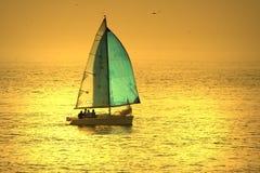 De boot van het zeil stock foto