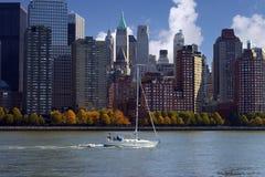 De boot van het zeil in NYC Royalty-vrije Stock Foto