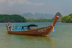 De boot van Longtail in Thailand Royalty-vrije Stock Foto