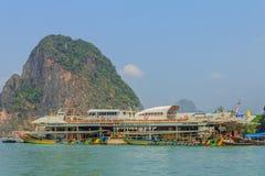 De boot van Longtail in Thailand Stock Afbeeldingen