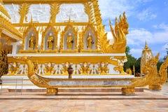 De boot van Naga in Thailand van de tempel Stock Fotografie