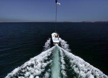 De boot van Parasailing. Royalty-vrije Stock Afbeeldingen