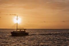 De boot van de visser `s stock afbeelding