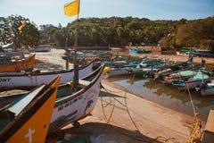 De boot van vissersmensen Stock Fotografie