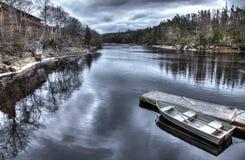 De boot zit bij Dok royalty-vrije stock foto