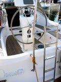 De bootachtersteven van het zeil royalty-vrije stock afbeelding