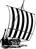 De Bootbeeldverhaal Vectorclipart van het zeilschip stock fotografie
