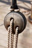 De bootdetail van het zeil stock afbeelding