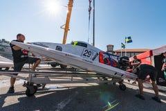 De bootvoorbereidingen van gek-Croc Baba Racing Team Stock Afbeeldingen