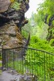 De Bordalsgjeletkloof, Noorwegen, Scandinavi?, Toerisme, deze plaats is dichtbij gesitueerd van Voss-stad stock afbeeldingen