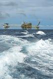De boringsplatform van de olie en van het gas Stock Foto