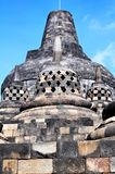 De Borobudurtempel is een toeristenbestemming in Azië - Indonesië royalty-vrije stock foto