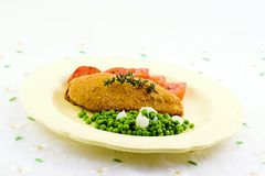 De borst en de groenten van de kip Stock Foto