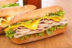 De Borst Ham Sandwiches van Turkije Royalty-vrije Stock Fotografie