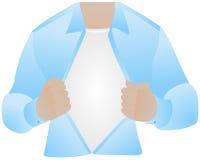 De borst, opende overhemd Royalty-vrije Stock Afbeeldingen
